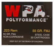 Wolf Polyformance .223 ammo 55gr FMJ *1000 rounds*