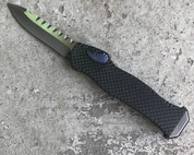 Heretic Knives Hydra OTF Carbon Fiber/Blue Ano button safety