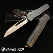 Microtech Cypher MK7 Wharncliffe Blade/Gray Handle
