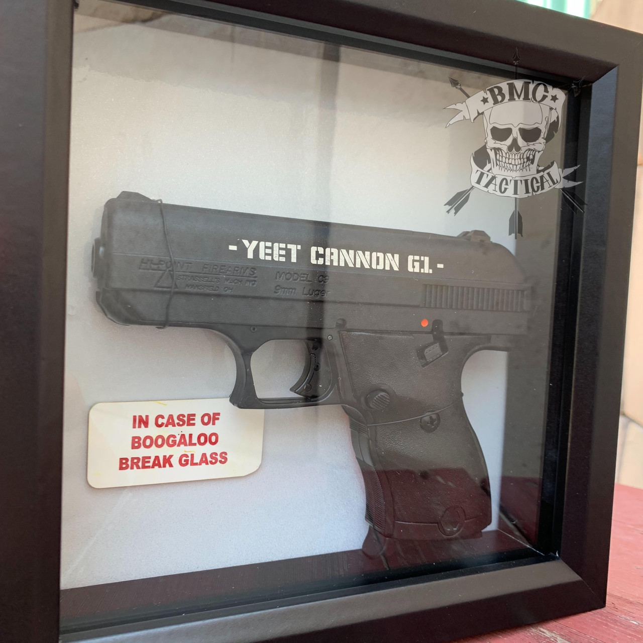 Hi Point Yeet Cannon With Display Case Bmc Tactical One name stood out in particular, yeet cannon. hi point yeet cannon with display case