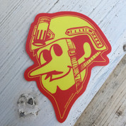 "Duke City Operator  Red and Yellow 4"" sticker"
