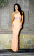 Atina Collection Pink One Shoulder Tiered Gown