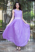 Atina Luxe Lavender Duchess Kate Silk Maxi dress