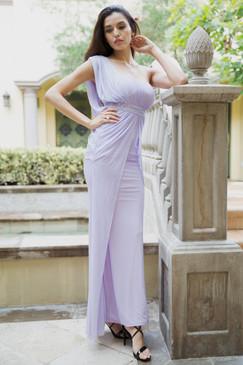"""Lavender One Shoulder Goddess """"Athena"""" Gown"""