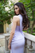"Lavender One Shoulder Goddess ""Athena"" Gown"
