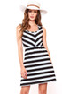 Casual Chic Striped dress with lace paneled back