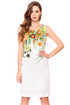 White sleeveless cotton Bless Floral Dress