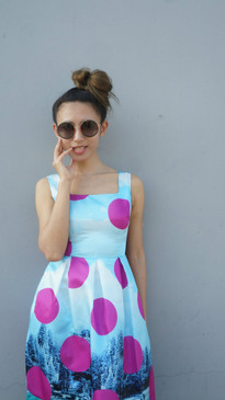 Trendsetter fashion print Pouf Dress
