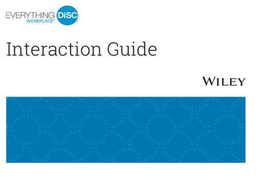 Everything DiSC Productive Conflict Interaction Guides