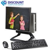 "Dell All-In-One USFF Desktop PC Core 2 Duo 4GB 250GB 19"" LCD Windows 10 Pro"