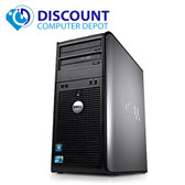 Dell Tower Windows 10 Pro Desktop Computer Core 2 Duo 3.0Ghz 4GB 1TB WIFI DVDRW