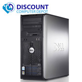 Dell 3.0Ghz Windows 10 Pro Tower Desktop Computer Dual Core 8GB 500GB DVD-RW WIFI