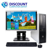 "HP Windows 10 Desktop Computer PC 2.5GHz 4GB DVD WiFi 19"" LCD"