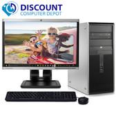 "HP DC Desktop Computer PC Tower Intel Dual Core 8GB 160GB DVD-RW WiFi 19"" LCD"