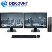 HP 8000 Elite Desktop Computer 8GB 500GB Dual 19 LCD Monitor Wifi Windows 7 64