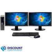 Dell Optiplex 790 Desktop Computer 4GB 250GB Dual 19 LCD Monitor Wifi Windows 7 Home Premium 64