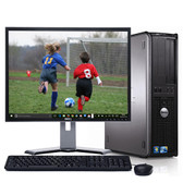 """Dell Optiplex Desktop Computer Windows 10 Core 2 Duo 4gb 1TB WiFi w/17"""" LCD"""