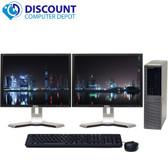 Dell Optiplex 960 Windows 7 Pro 3.0 Core 2 Duo Desktop 4GB 250GB Dual 17 Monitor