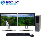 Dell Optiplex 960 Windows 7 Desktop 3.0 Core 2 Duo 4GB 160GB Dual 17 LCD Monitor