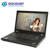 "Lenovo ThinkPad 15.6""T500 C2D Laptop Windows 10 4GB Ram 160GB Hard Drive DVD WiFi Power Adapter"