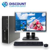 HP 8000 Desktop Computer PC Intel C2D 3.0GHz 8GB 500GB 19 LCD  Windows 10 Pro