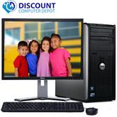 """Dell Windows 10 Optiplex Tower Computer PC Core 2 Duo 4GB 1TB DVD 19"""" LCD"""