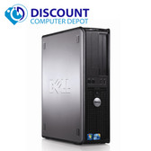 Dell Windows 10 Pro Optiplex Desktop Computer PC Core 2 Duo 4GB 80GB WiFi