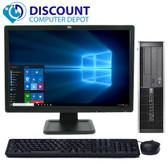 "HP 8000 Elite Desktop Computer Windows 10 Pro PC 3.0GHz 4GB 250GB WiFi 19"" LCD"