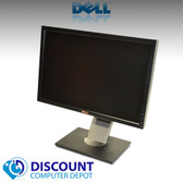 Dell 19 Inch Ultrasharp 1909W Widescreen LCD Monitor with VGA and Power Cables (Lot of 8 LCD Monitors)