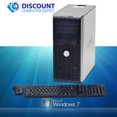 Fast Dell Dual Core Tower Windows 7 Desktop Computer PC 4GB DVD WiFi