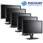 "Dell Professional Widescreen LCD Monitors 22"" (Grade A) Lot of 5"