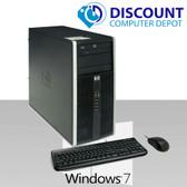 HP 6000 Pro Desktop Computer Tower Intel C2D 4GB 160GB DVD-ROM Win7-64 Home Key-Mice