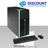 HP 6000 Pro Desktop Computer Tower Intel C2D 4GB 250GB DVD-ROM Win7 Pro-64  Key-Mice