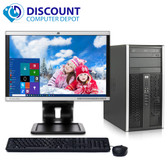 "HP 6000 Desktop Computer Tower PC C2D 3.0GHz 4GB 250GB Windows 10 with 19"" LCD"