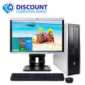 "Fast HP Windows 10 Desktop Computer PC 2.5GHz 4GB 500GB DVD 19""LCD"