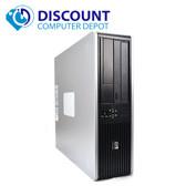 Fast HP Desktop Computer PC Dual Core 8GB 250GB Windows 10 Pro DVD-RW