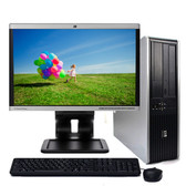 "Fast HP Windows 10 Desktop Computer PC 2.5GHz 4GB 160GB DVD 19"" LCD"