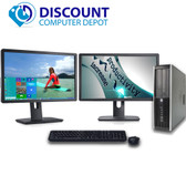 "HP 6000 Pro Desktop Computer PC C2D 3.0GHz 4GB 160GB Dual 19""LCD's Windows 10"