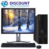 "Lenovo Desktop Computer PC Core 2 Duo 2.13GHz 4GB 250GB Windows 10 Pro w/17"" LCD"
