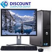 """FAST Dell Desktop Computer Windows 10 PC Core 2 Duo 4GB 500GB DVD WiFi 17"""" LCD"""