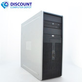 HP DC Desktop PC Computer Tower Windows 10 Intel 1.8GHz 8GB 500GB