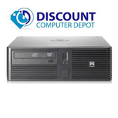 Fast HP rp5700 Desktop Computer Windows 10 PC Dual Core 2.13GHz 4GB DVD WiFi
