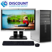 "HP DC Desktop Computer PC Tower Intel Dual Core 8GB 60GB SSD WiFi 19"" LCD"