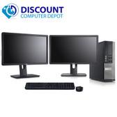 "Dell 790 Desktop Computer Quad i5 3.1GHz Win10 Pro w/ Dual 2x22"" Dell Monitors"
