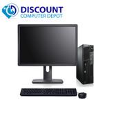 "Lenovo M91P USFF Desktop Computer Intel i5 PC 2.5GHz 4GB 500GB Win10 Pro 19"" LCD"