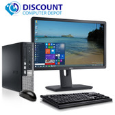 "Dell 780 Thin Small Desktop Computer PC C2D 3.0GHz 4GB 160GB Win10 Pro w/22"" LCD"