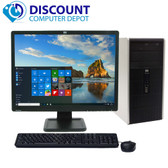 "Fast HP Windows 10 Desktop Computer Intel DC CPU PC 4GB 250GB DVD 19"" LCD wifi"