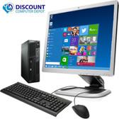 "cPC Assy  Lenovo M91P SFF Desktop PC i5 3.20 GHz 4GB 80GB SSD Win10-Pro wifi 19"" LCD"