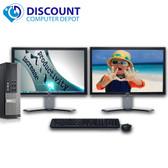 """Dell Optiplex 990 Windows 10 Pro Desktop PC Quad i5 8GB 500GB w/dual 20"""" LCD's"""