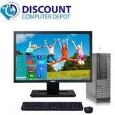 """Dell Optiplex 3010 Win 7 Pro Desktop Computer PC i3 4GB 500GB 19"""" LCD Radeon GPU"""